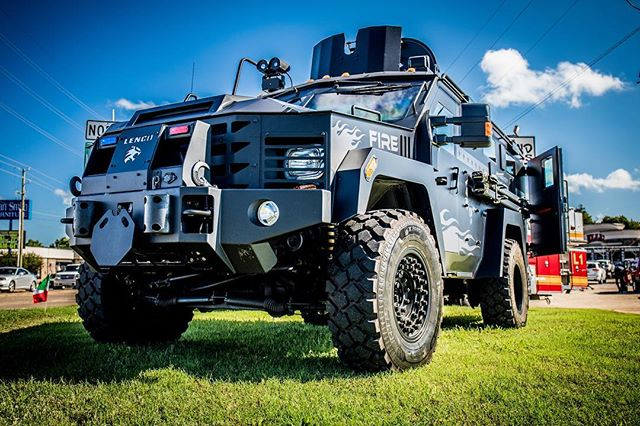 Check out this #beast of a truck! Great seeing FD's taking some steps to help protect the men and women on the front line of EMS. #fire #tank #bearcat #firstresponders #tactical