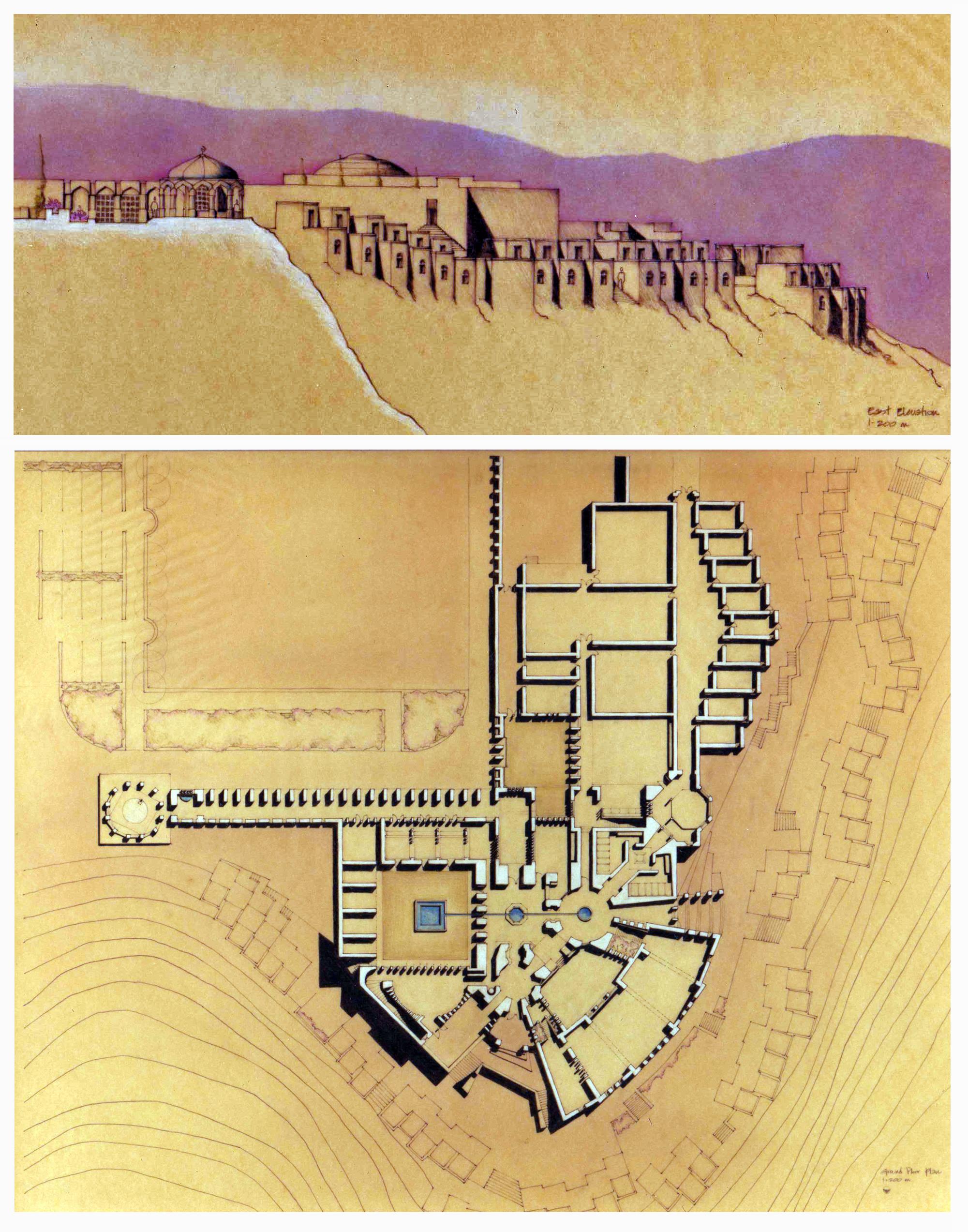 Bamyan elev and plan.jpg