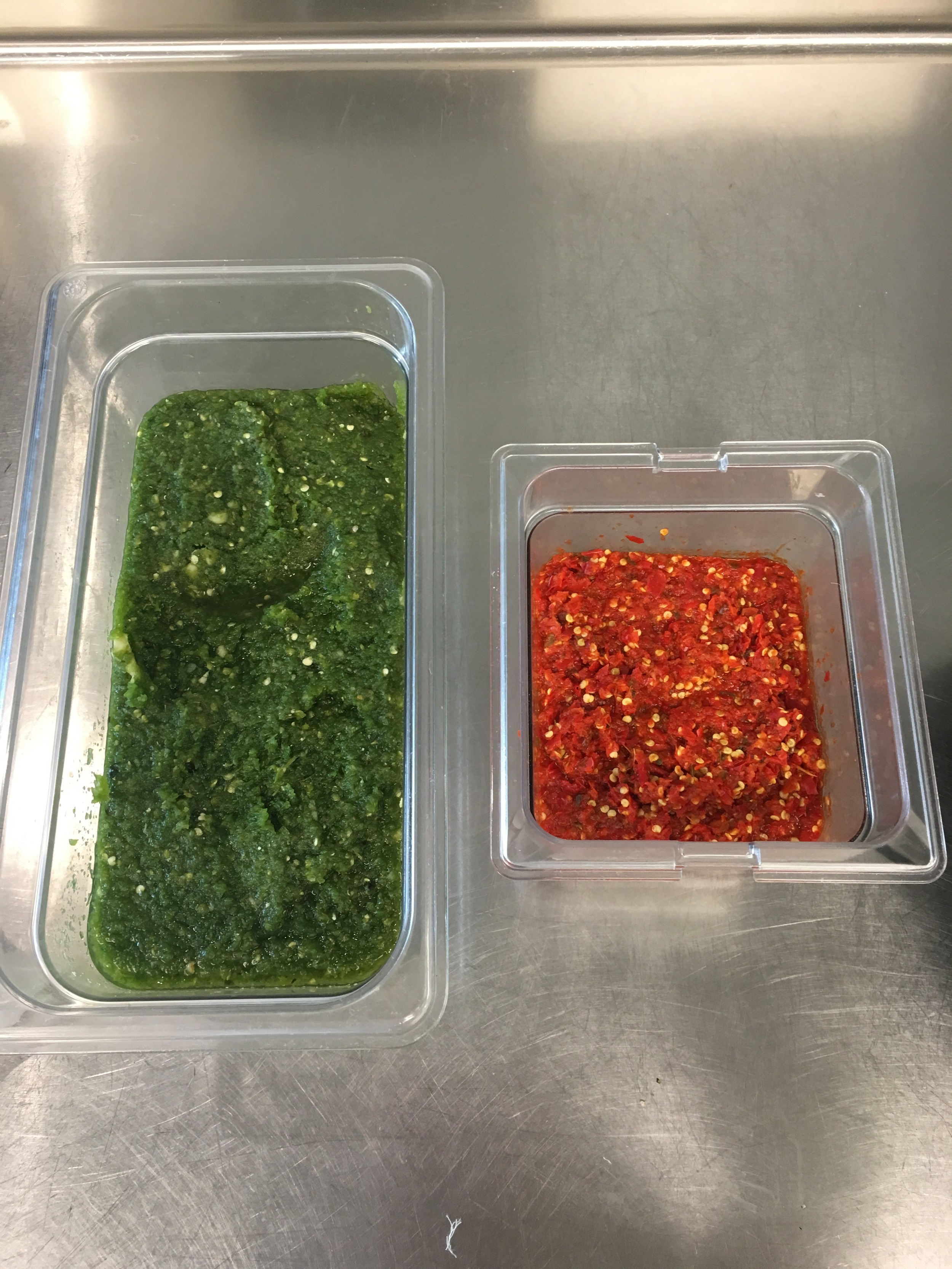 Pureed peppers