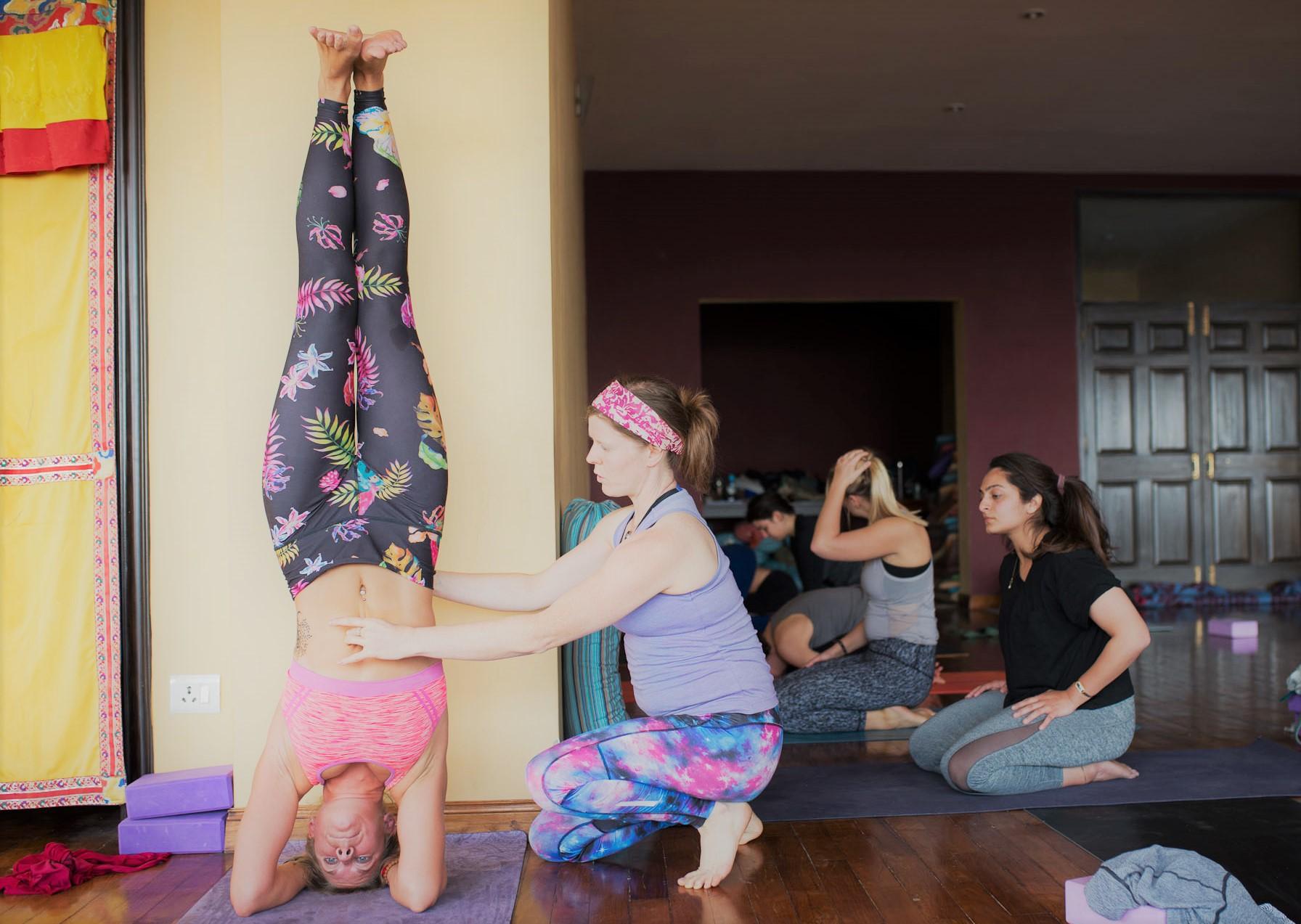 Pregnant yoga teacher Annie Seymour Mahalaya Nepal.jpg