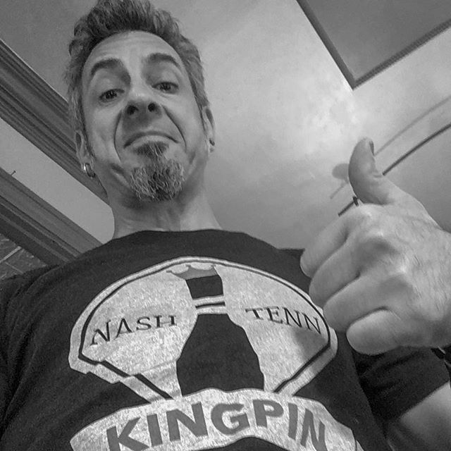 You too could look cool in your very own KBC-T...but probably not but not as cool a deuce 😎 If you're in HBG area, stop by his shop for a cut and some Kingpin! . . . . . #deucegibbsalon #martinibrothers #mensgrooming #kingpinbarberco #pinhead #nashville #triblend  #silkscreen #waterbasedink #tshirt