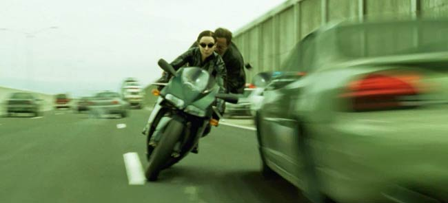 Driving on LA freeways is exactly like this, except with fewer cool Ducatis