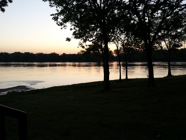 Twilight by the Arkansas River