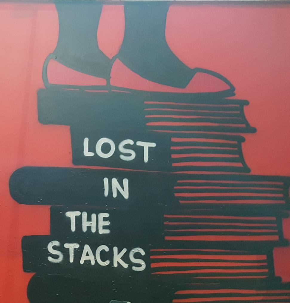 Wall art outside Strand Bookstore
