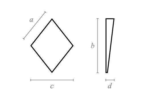 Rhombus Taper Block
