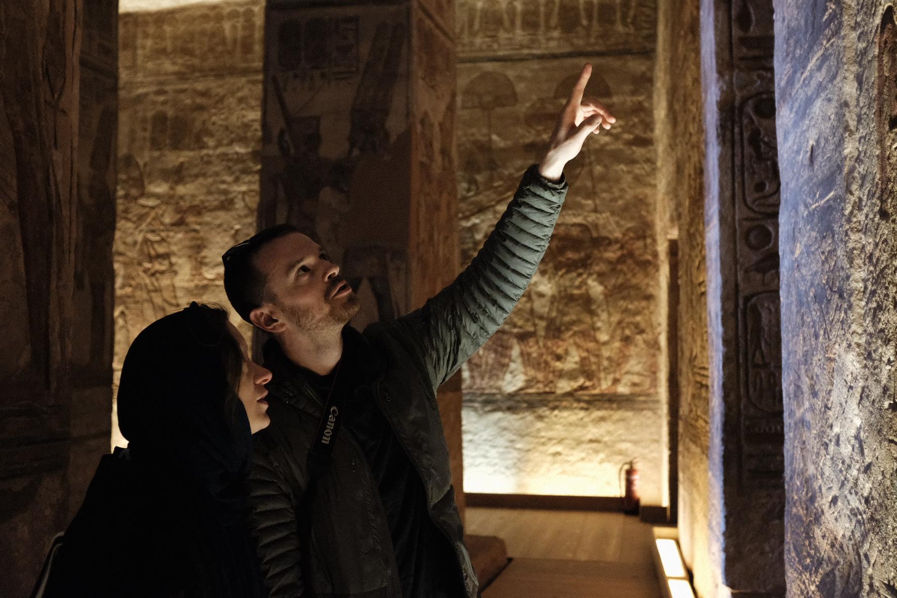 Kara & I exploring Abu Simbel in Egypt