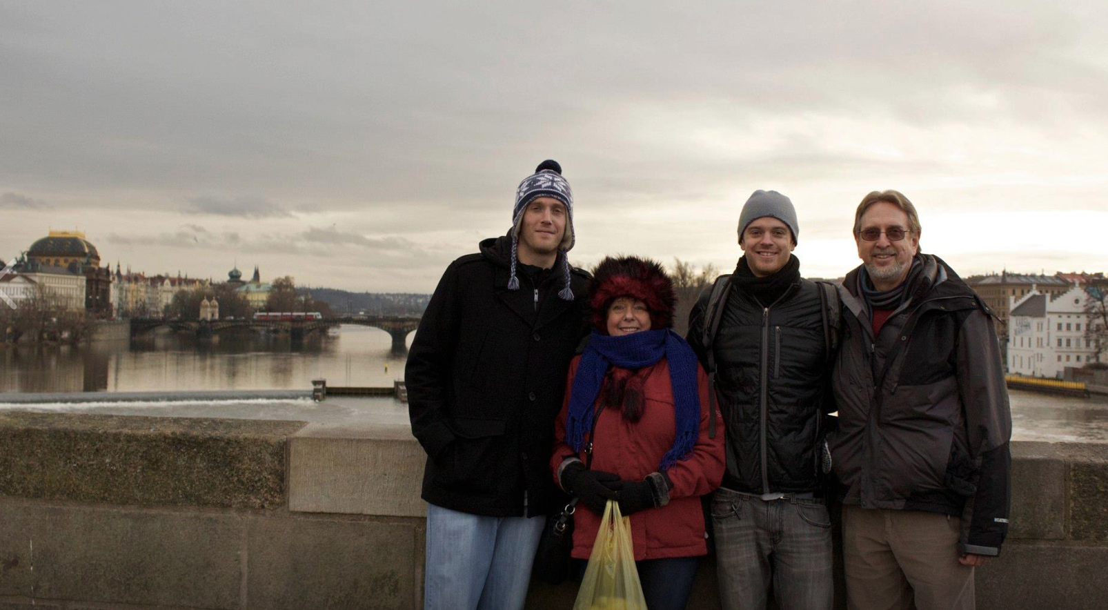 Throwback from my year living in Prague - a holiday visit from the fam