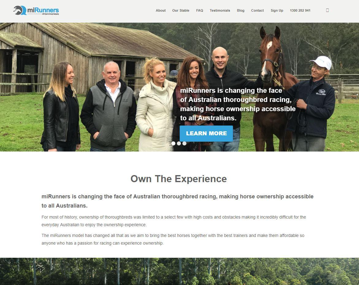 MiRunners website screenshot.JPG