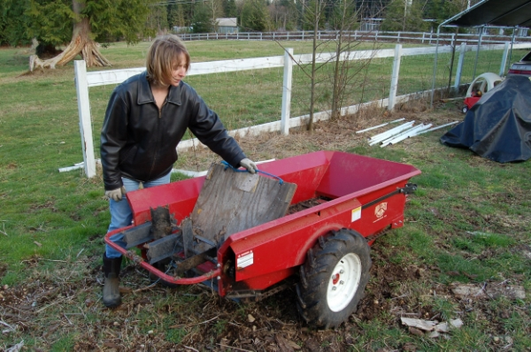 Compost spreaders come in sizes applicaple for any size operation.