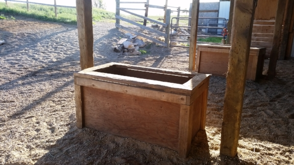 Other ways to help horses stay calm and healthy in their confinement areas include various types of feeding bins that hold enough hay to mimic a more continuous grazing environment.