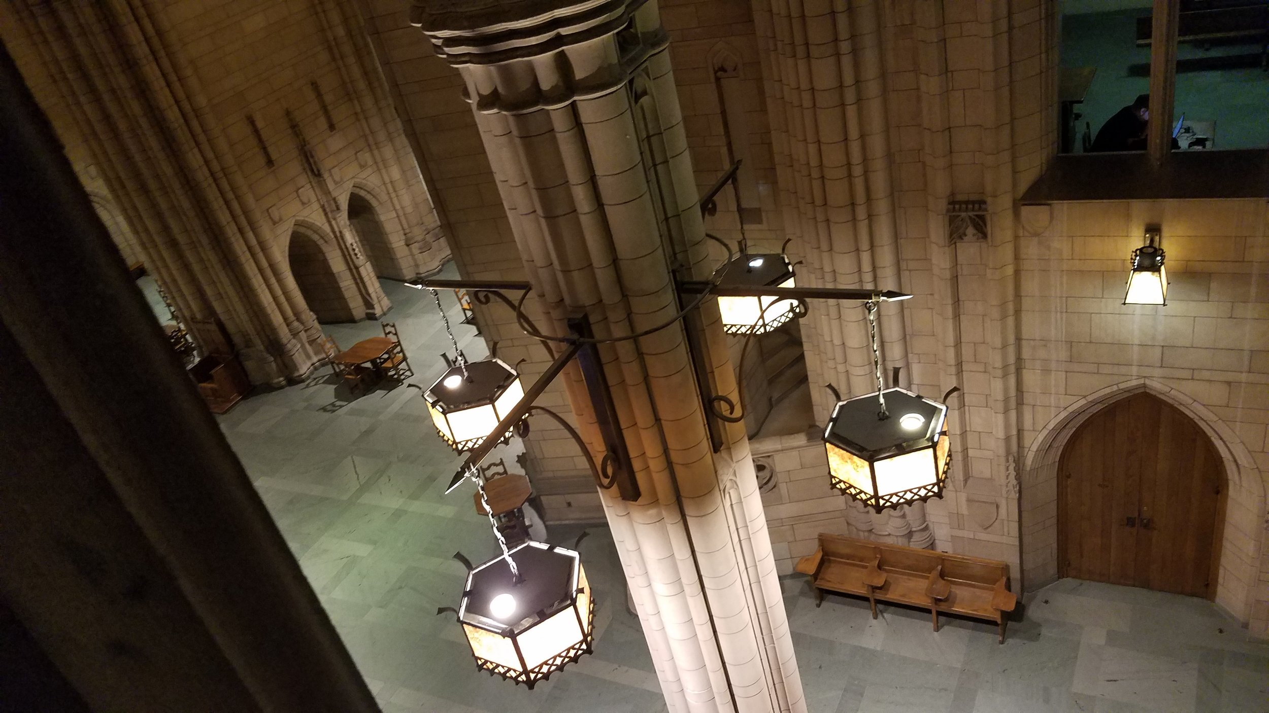 Cathedral of Knowledge, looking down into the study space--can I live here??
