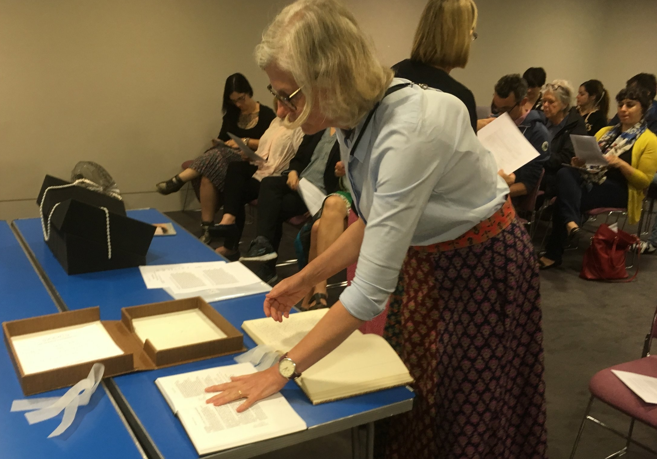 Viewing of the manuscript of  A Room of One's Own