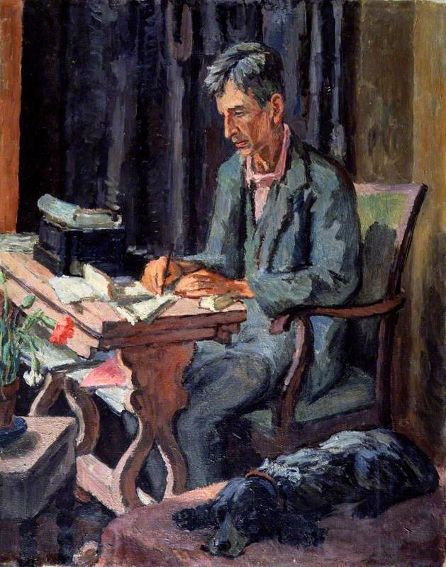 Vanessa Bell portrait of Leonard Woolf, 1940