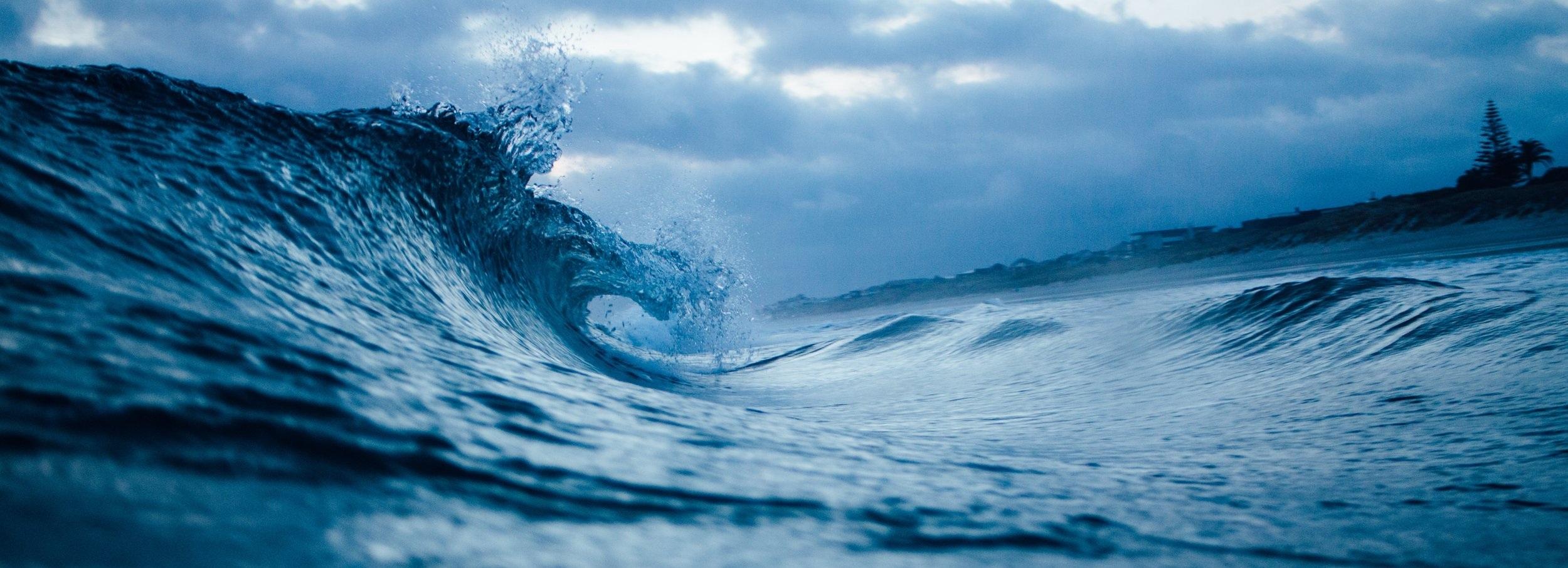 Waves photo by Tim Marshall, Unsplash