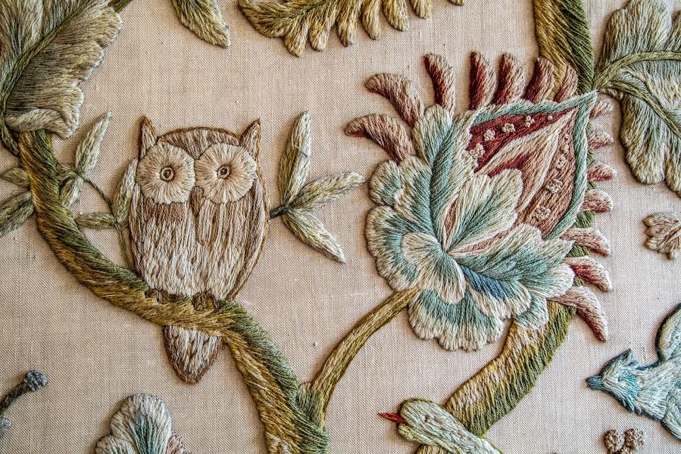 Embroidery at Girton owl.jpg