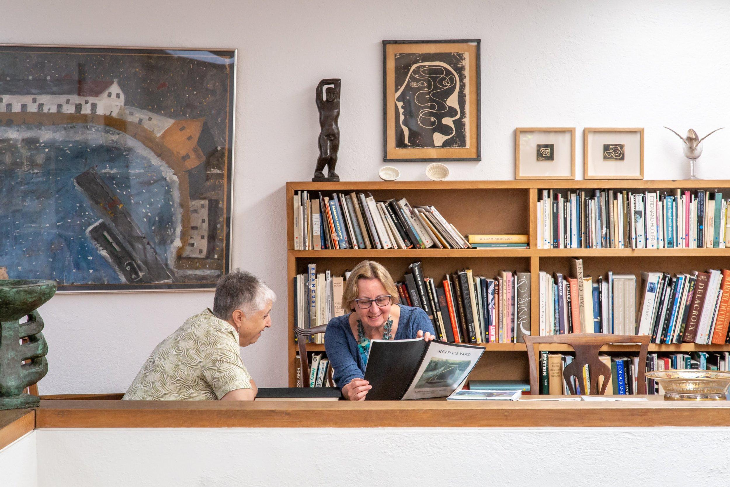 39 Helen and Montserrat with books ** .jpg