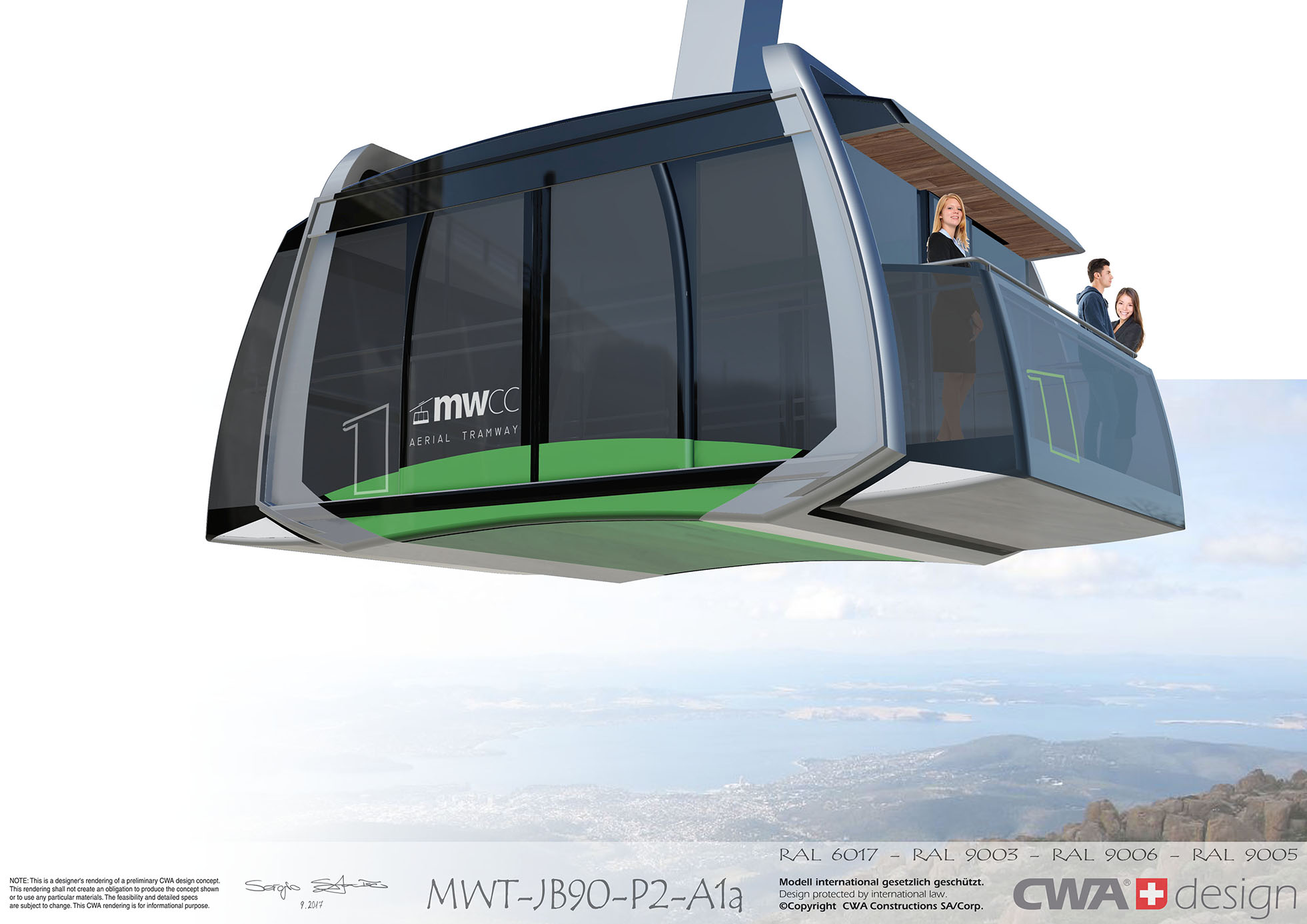 MWCC 'Skytram' - city-facing open-air deck