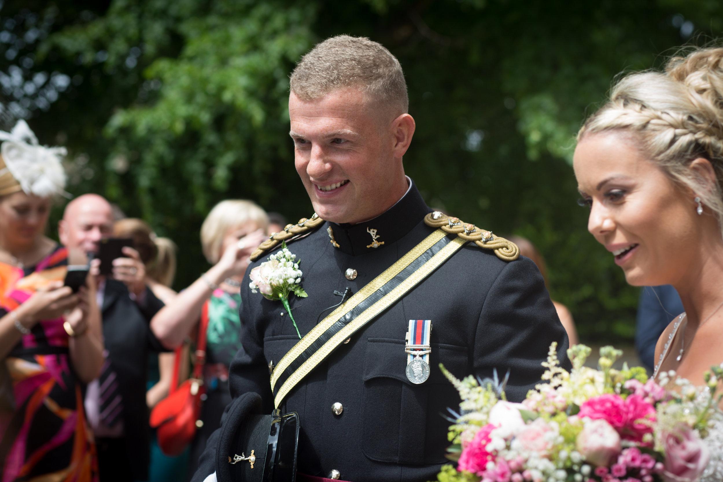 Sandhurst Military School Wedding, Camberley