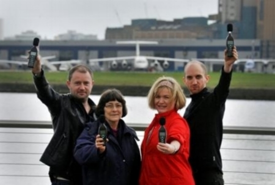 Noise campaigners at City Airport