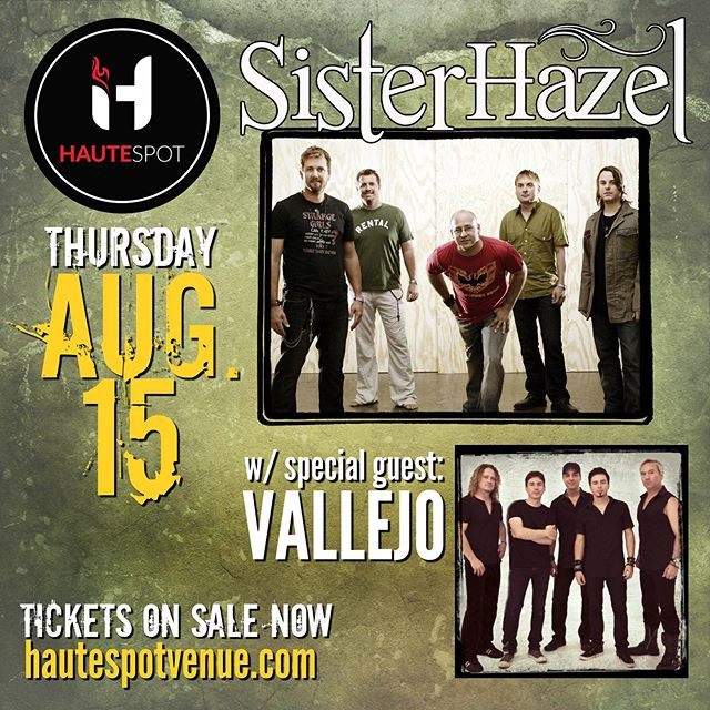 Looking very forward to 8/15 @hautespotvenue with Sister Hazel! We played many radio shows and festivals with these guys back in the swinging 90's. Sure to be a fabulous night of music and shenanigans under the stars in Cedar Park, TX! For tickets and more info, go to hautespotvenue.com @sisterhazelband @cityofcedarpark