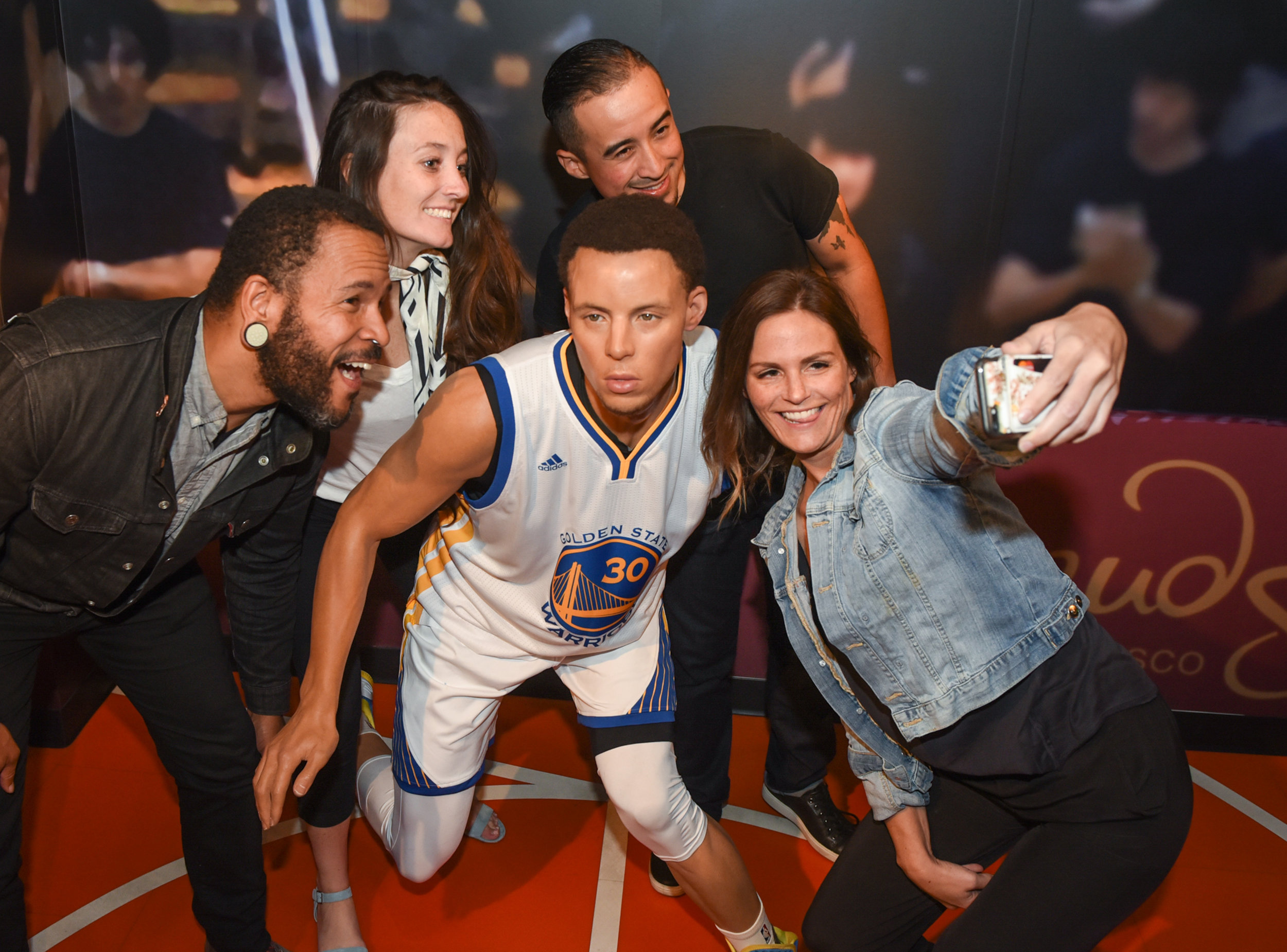 Fisherman's Wharf - Young Friend Group Taking Selfie with Stephen Curry at Madame Tussauds.jpg