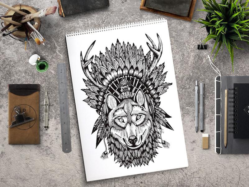 Indiánský vlk od   Terry Emi .