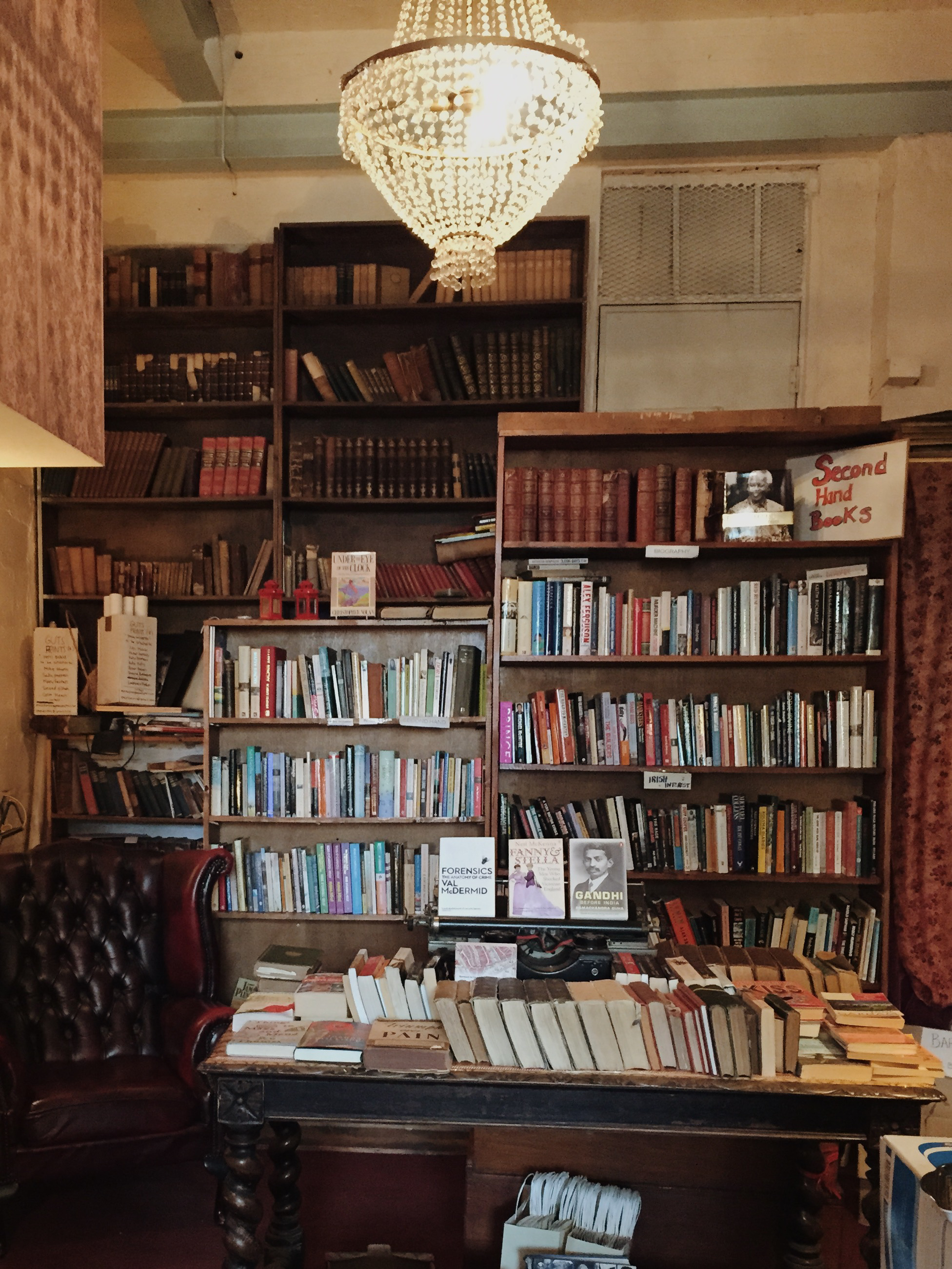Cozy interior of the Winding Stair Bookshop