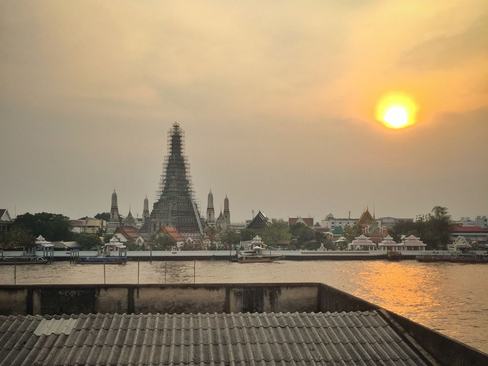 Wat Arun from the Inn a Day balcony