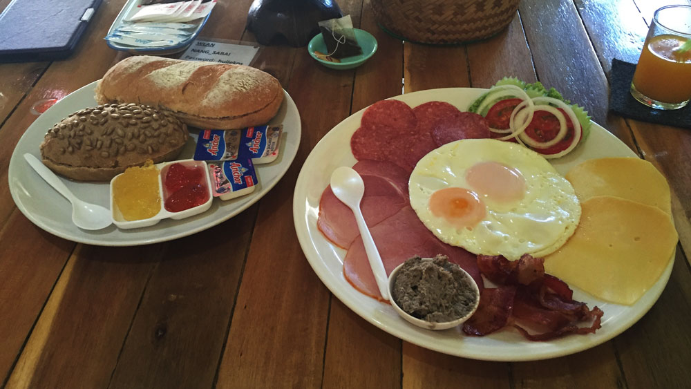 German breakfast with the best bread on the island