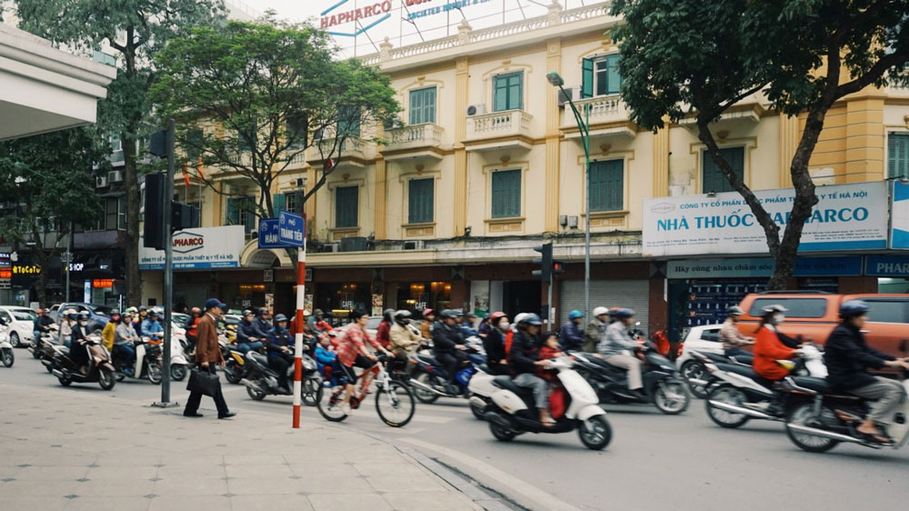 Motorbikes are everywhere, and they don't stop for people