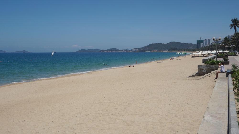 Beautiful white-sand beach