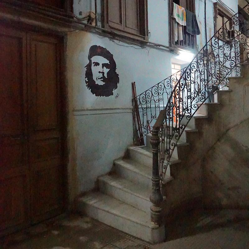 The lobby of Paladar La Guarida