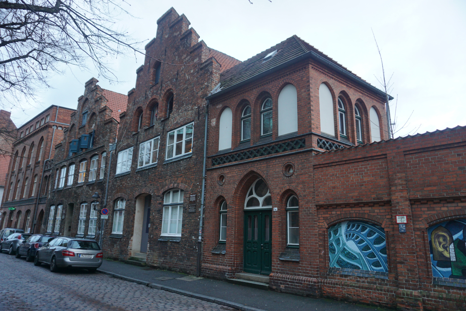 Typical Lübeck old city architecture