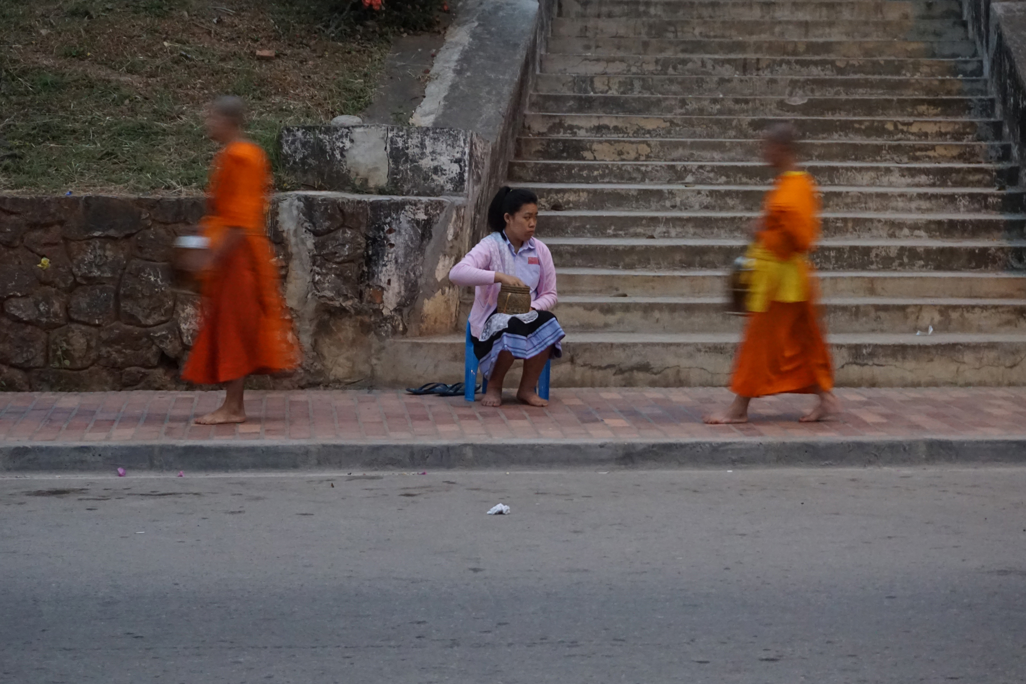The morning alms giving ceremony, Luang Prabang
