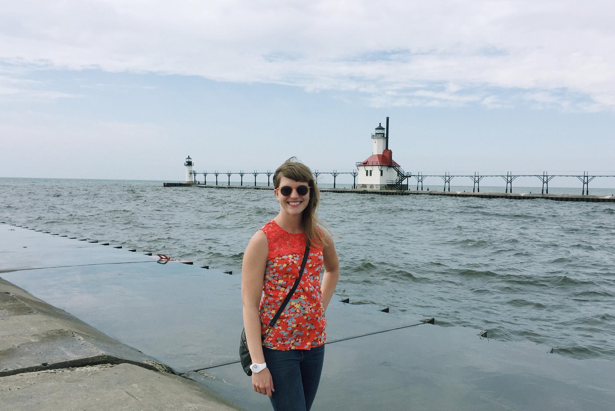 Happy to be back at Lake Michigan