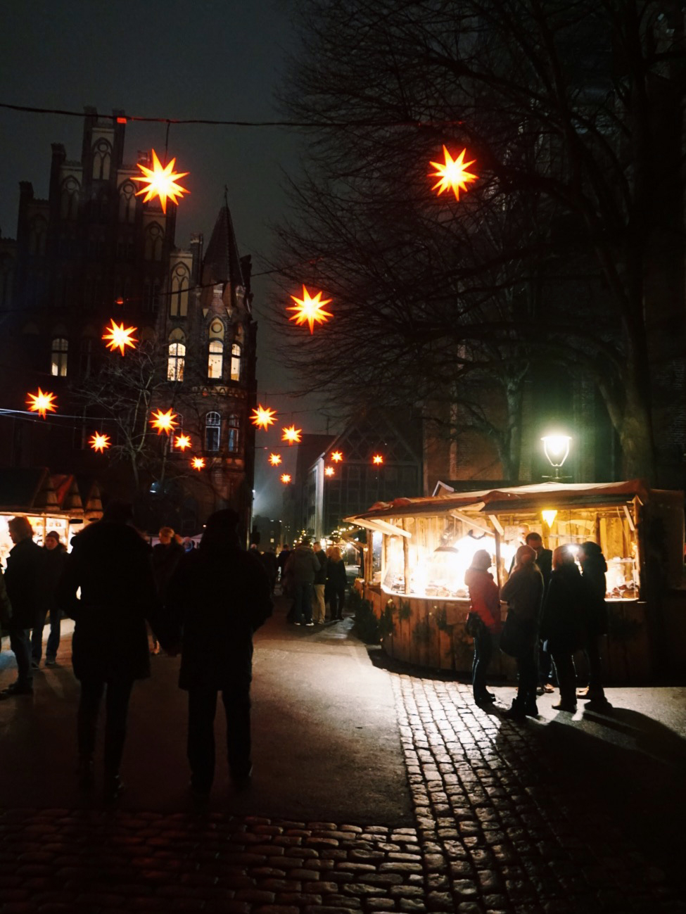 The Christmas market in Lübeck, Germany, December