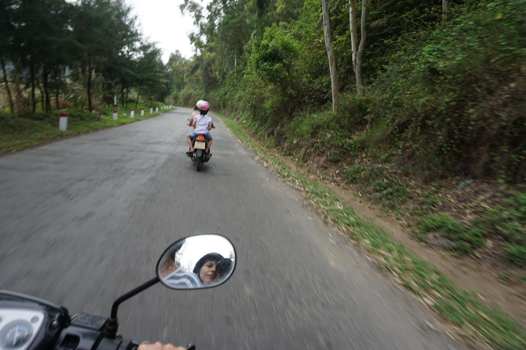 Riding motorbikes, Cat Ba Island, Vietnam