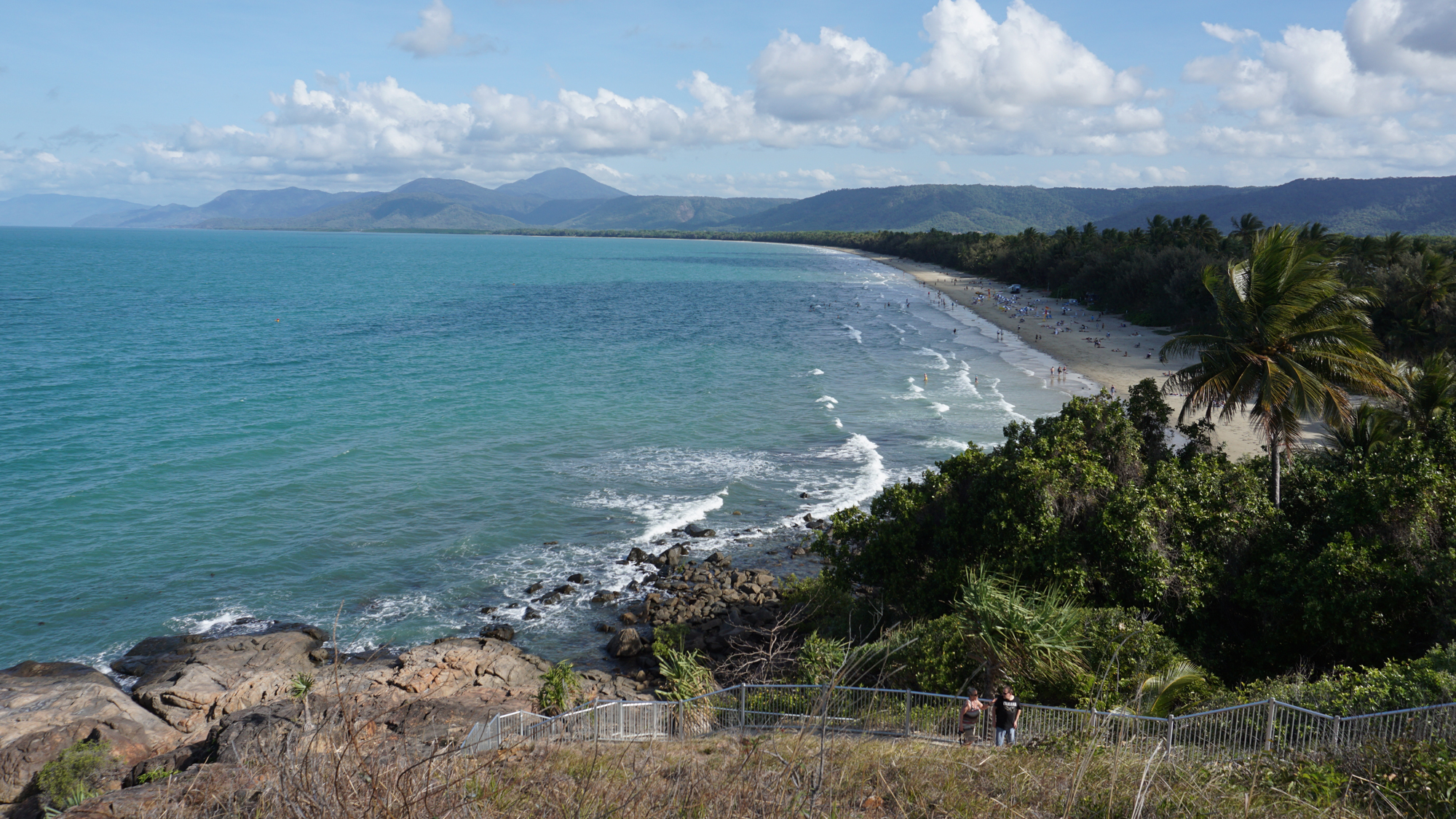 The view of 4 Mile Beach in Port Douglas