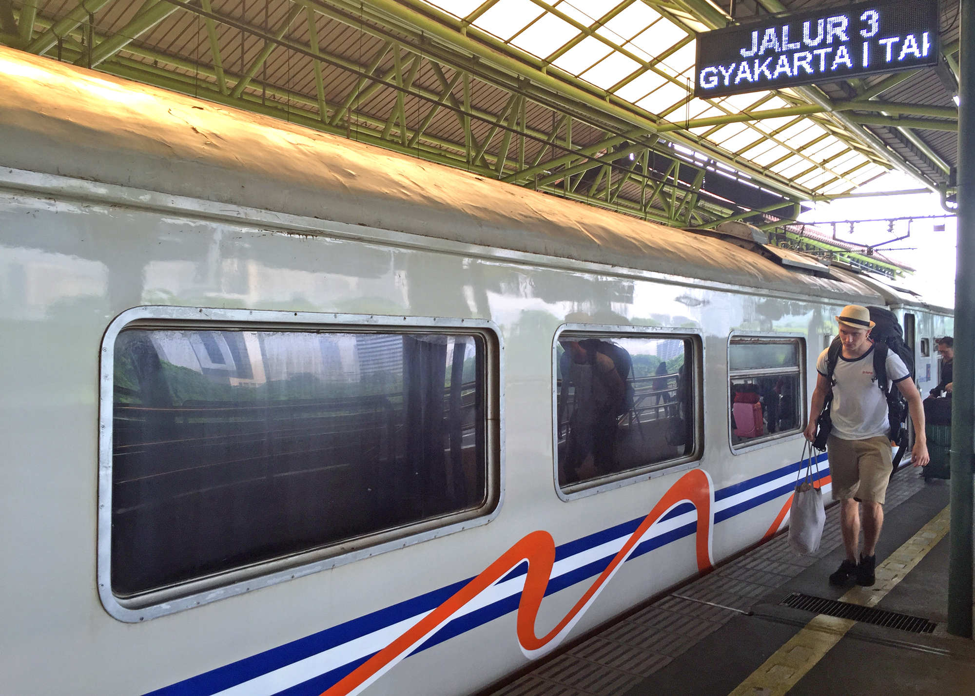 The train about to leave Jakarta