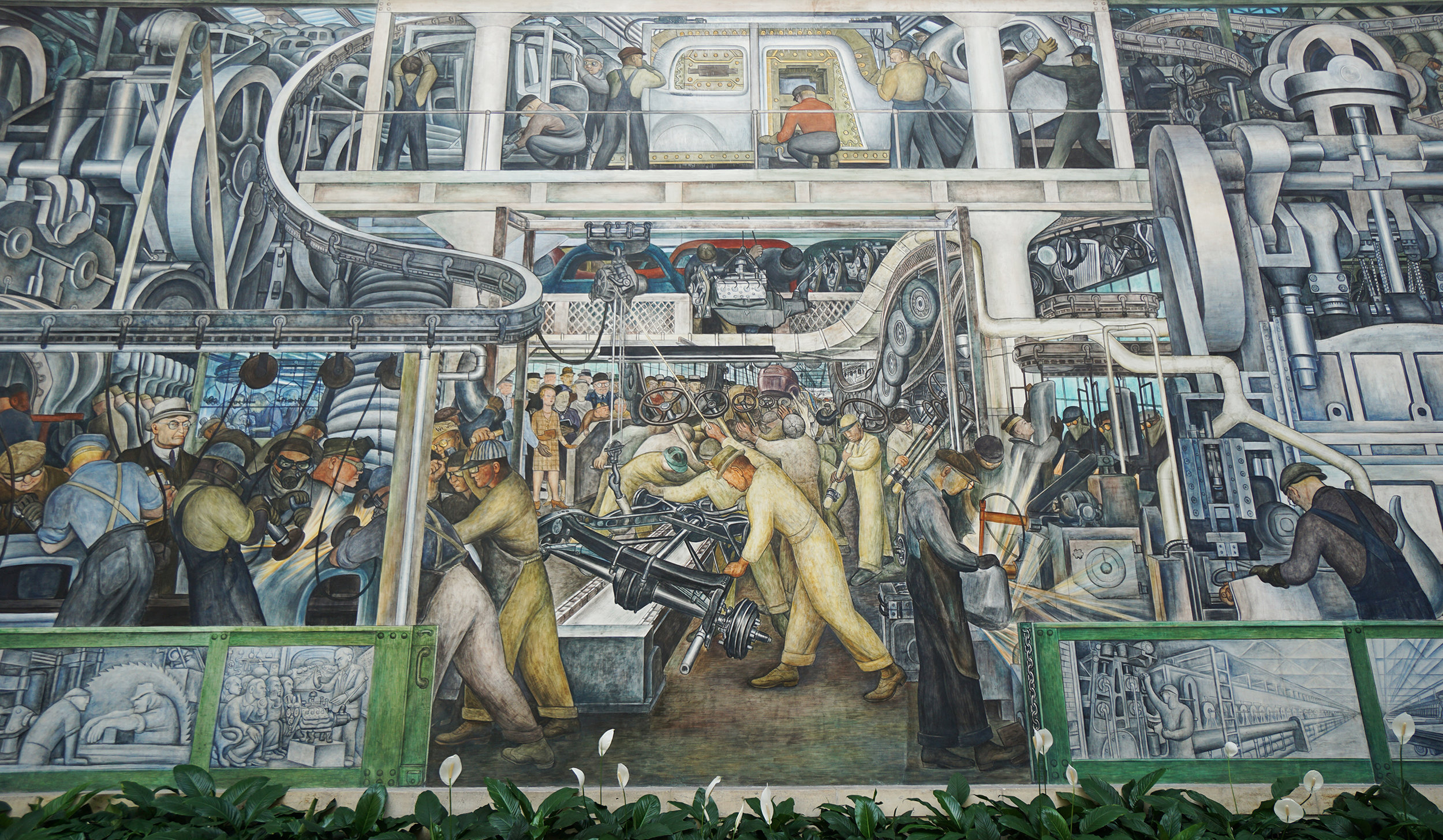 The Diego Rivera mural in the Detroit Art Insitute
