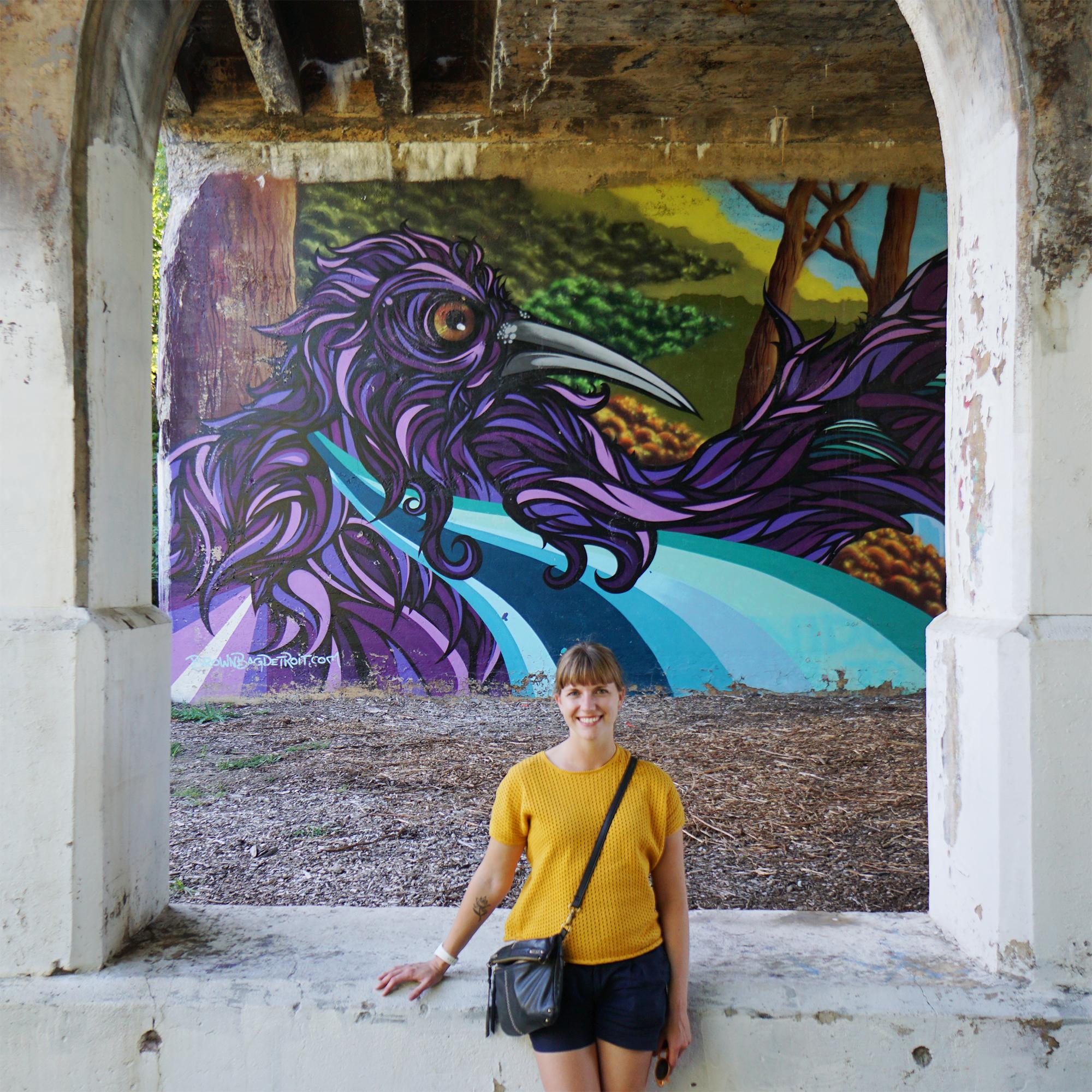 Beautiful street art along the Dequindre Cut