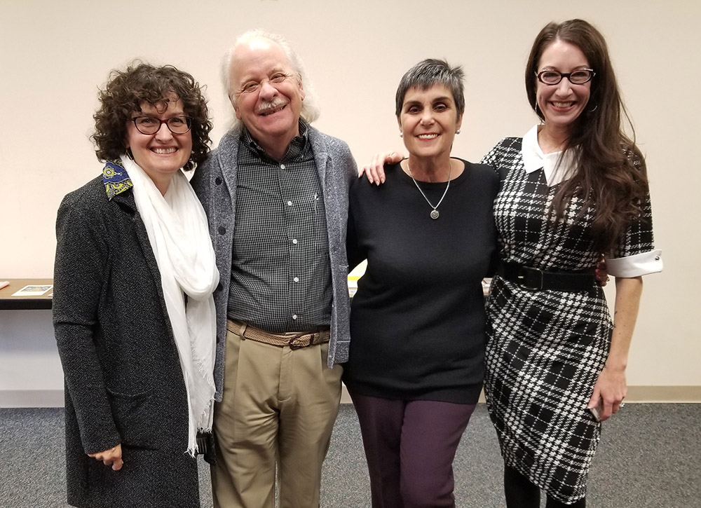 Pictured left to right: Cyd Peroni, Patrick O'Brien, Lois Roma-Deeley, and Rosemarie Dombrowski