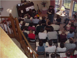 In the beginning, monthly worship gatherings were held in Pastor Weiser's home in Pflugerville, TX.