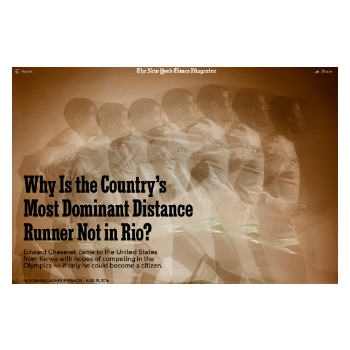 Why Is the Country's Most Dominant Distance Runner Not in Rio \\ New York Times Magazine
