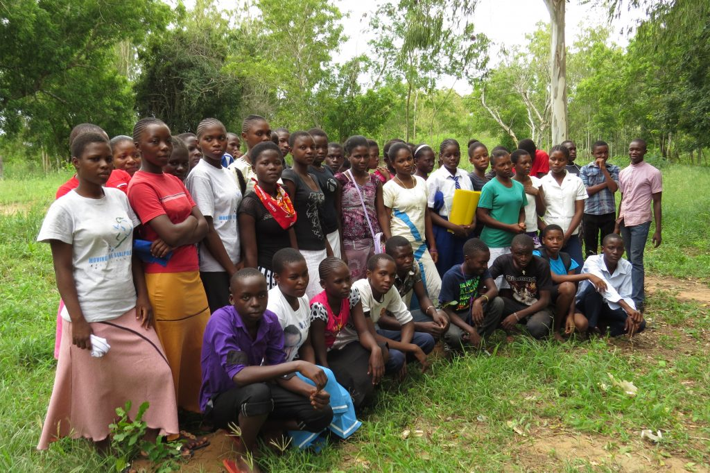 Students gathered at Bogamachuko Primary School