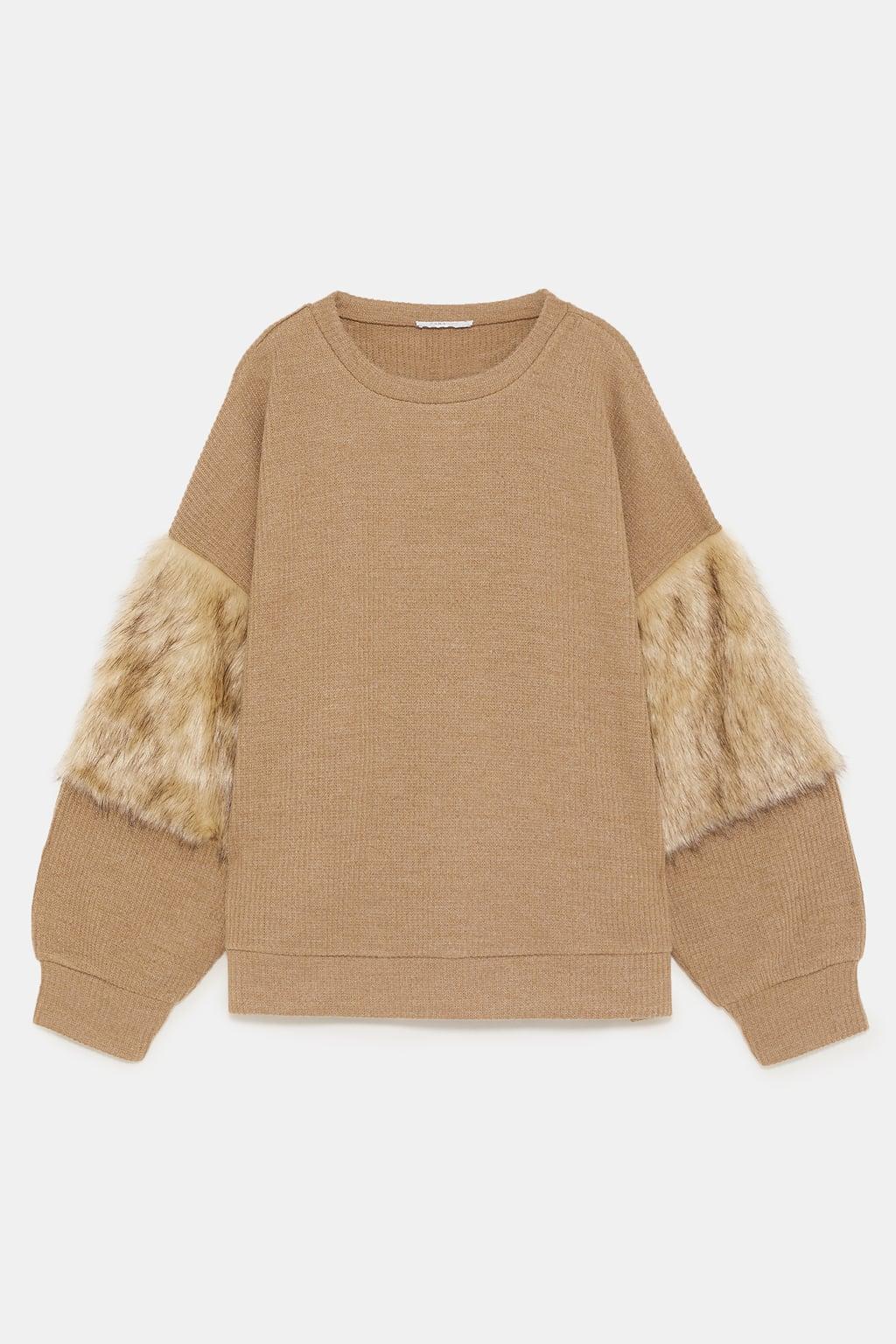 TEXTURED WEAVE SWEATSHIRT WITH MATCHING DETAIL