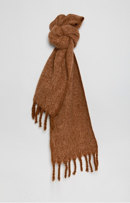 FLUFFY TWO TONE SCARF