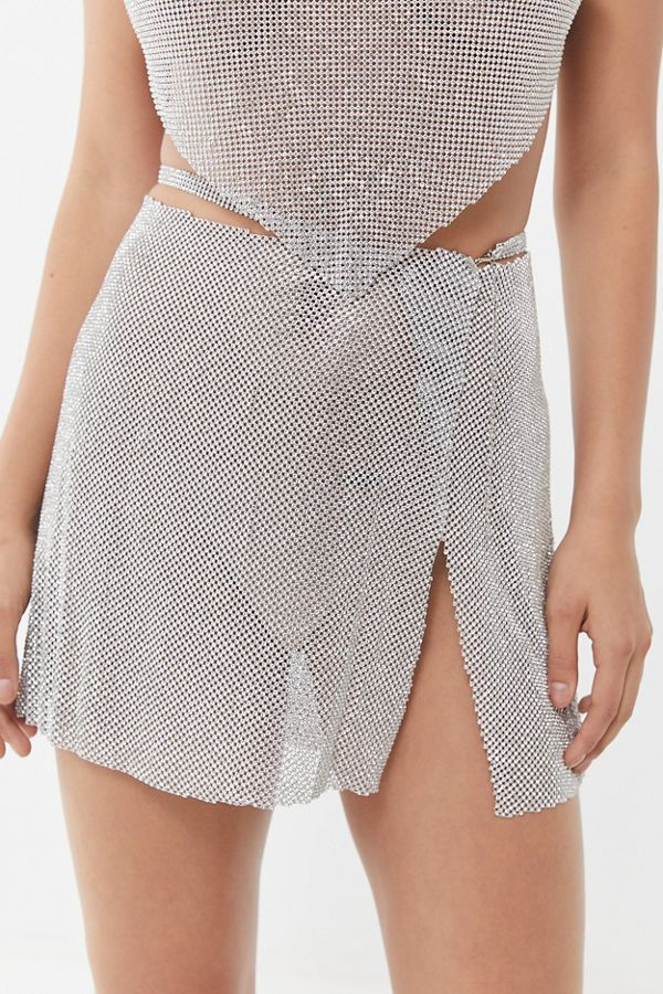 SPARKLY WRAP SKIRT - @URBANOUTFITTERS
