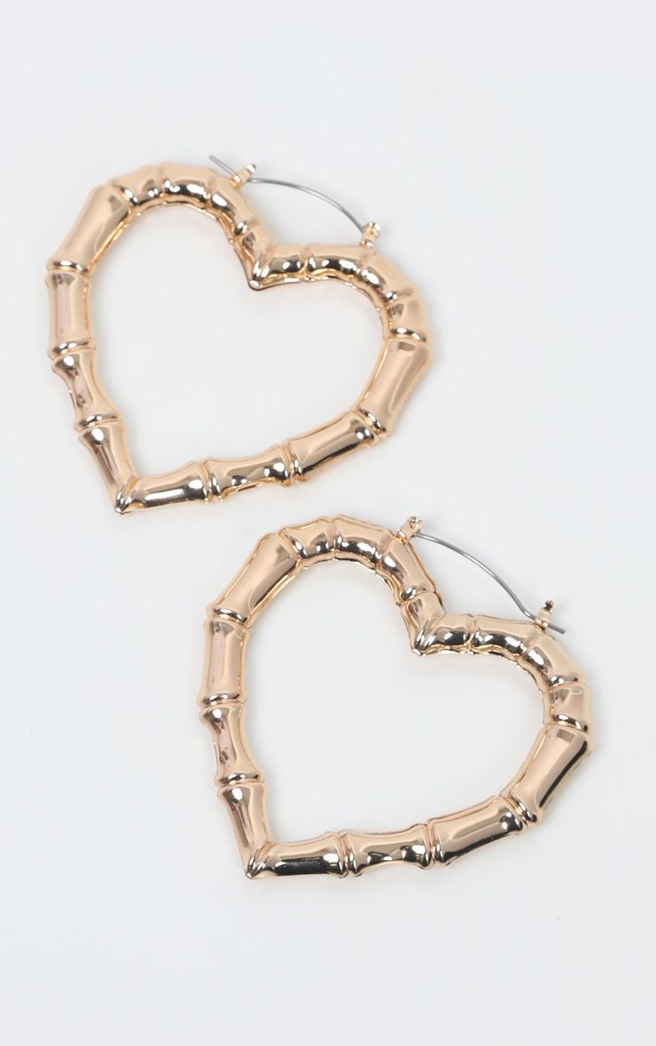 Heart Bamboo Earrings