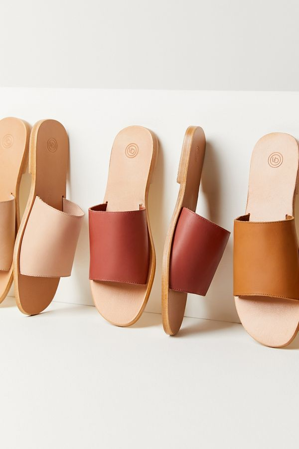 Soft Leather Slides